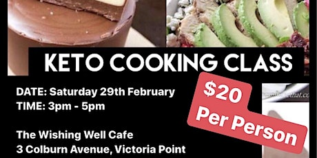 Keto Cooking Class tickets