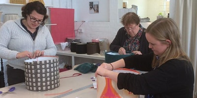 Lampshade making class - make a drum lampshade - London workshop
