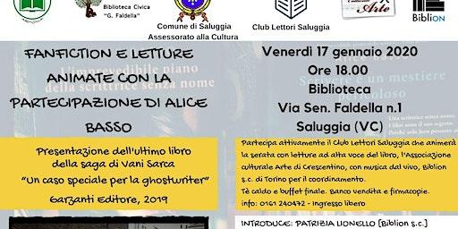 ALICE BASSO A SALUGGIA PER UNA FANFICTION CON IL CLUB LETTORI DI SALUGGIA