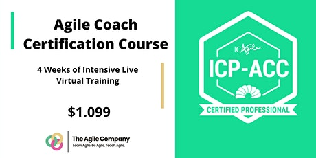 Online Agile Coach Certification - ICAgile - ICP-ACC - Live Virtual 4 Weeks tickets