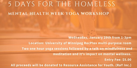 5 Days For the Homeless Yoga Workshop tickets