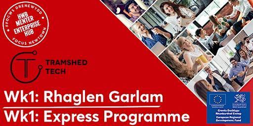 Wk1: Introduction to the Express Programme   Cyflwyniad i'r Rhaglen Garlam