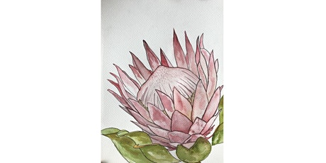 Majestic Protea's: Learn to paint a king protea (Water colour) tickets