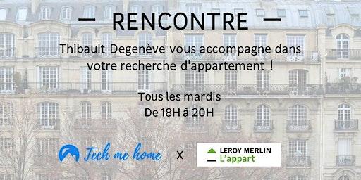 Thibault Degenève vous accompagne dans votre recherche d'appartement !
