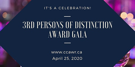 CCAWR - 3rd Persons of Distinction Awards Gala tickets