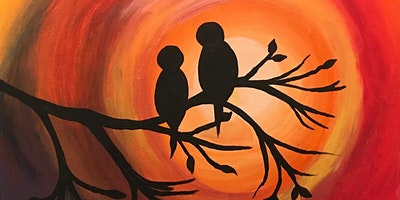 Paint Night in Canberra:  Birds at Sunset
