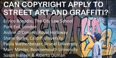 Copyright and Street Art and Graffiti Panel and Book Launch tickets
