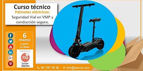 Seguridad Vial en VMP y conducción segura de patinetes. entradas