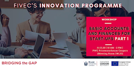 BASIC ACCOUNTS AND FINANCES FOR START-UPS (Workshop Part 1) tickets
