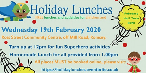 February Free Family Holiday Lunches