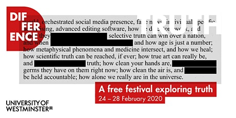 Difference Festival - Medical Truth as a Metaphysical Phenomenon tickets