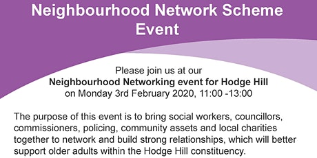 Hodge Hill Neighborhood Network Launch Event tickets