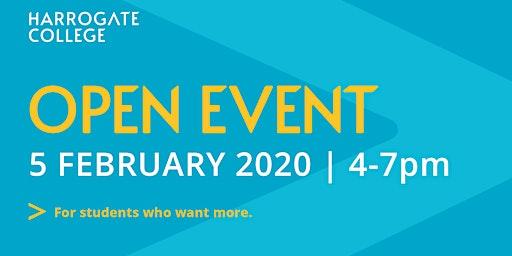 Harrogate College Open Event  Wednesday 5 Feb 2020