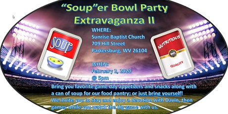 "2nd Annual ""Soup""er Bowl Party Extravaganza tickets"