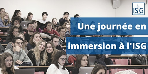 Journée en immersion à l'ISG