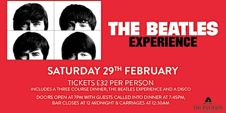 The Beatles Experience - Including 3 Course Dinner tickets