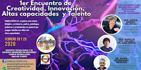 1er Encuentro de creatividad, innovación, altas capacidades y talento boletos
