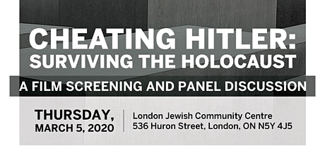 Cheating Hitler--A Film Screening and Panel Discussion tickets