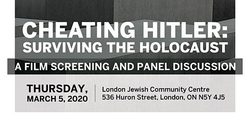 Cheating Hitler--A Film Screening and Panel Discussion