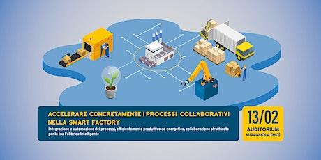 Accelerare concretamente i processi collaborativi nella Smart Factory biglietti