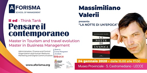 Pensare il Contemporaneo II ed. - Incontro con Massimiliano  Valerii
