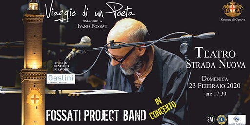 Viaggio di un poeta - Omaggio a Ivano Fossati per l'Ospedale Gaslini