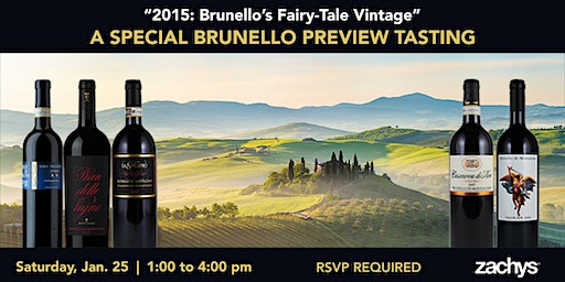 "2015: Brunello's ""Fairy-Tale"" Vintage Special Preview Tasting"