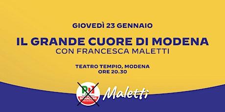 Il Grande Cuore di Modena biglietti