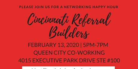 Cincinnati Referral Builders Networking Happy Hour tickets