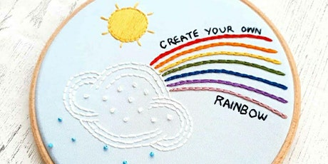 Hand Embroidery Workshop, suitable for beginners - Rainbow tickets