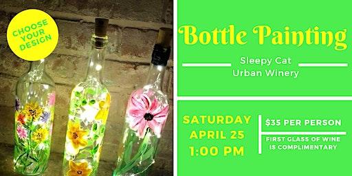 Bottle Painting at Sleepy Cat Urban Winery