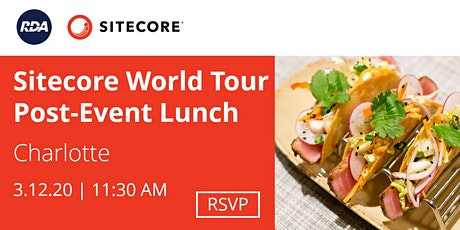 Sitecore World Tour Post-Event Lunch   Charlotte tickets