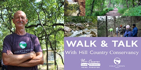 Walk-and-Talk on the Violet Crown Trail with HCC (290 Trailhead) tickets