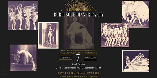 Burlesque Dinner Party at Gatsby's Joint