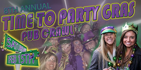 Time To Party Gras Pub Crawl 2020 tickets