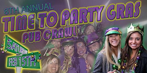Time To Party Gras Pub Crawl 2020