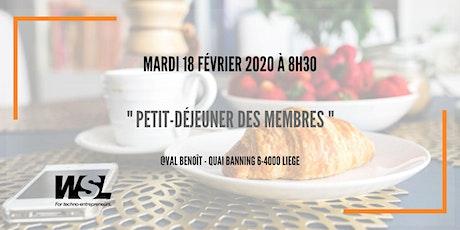 Petit-déjeuner | Mardi 18 février 2020 @Val Benoît | billets