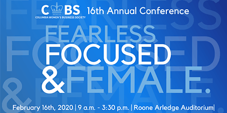 Fearless, Focused & Female: CWBS's 16th Annual Conference tickets