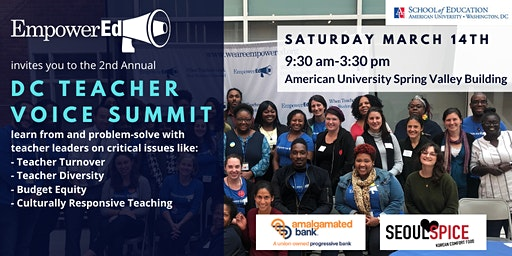 DC Teacher Voice Summit by EmpowerEd