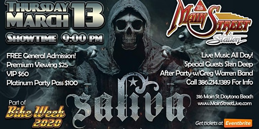 Bike Week 2020 with SALIVA at Main Street Station