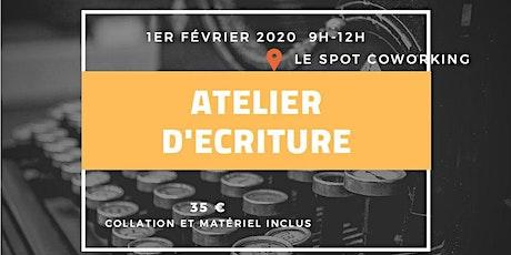 ATELIER D'ÉCRITURE CRÉATIVE billets