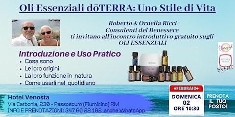 LITORALE NORD ROMA -  PASSOSCUROCorso Gratuito sugli Oli Essenziali biglietti