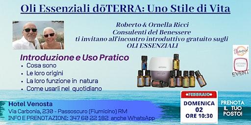 LITORALE NORD ROMA -  PASSOSCURO    Corso Gratuito sugli Oli Essenziali