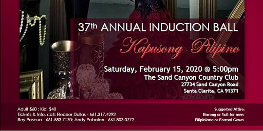 37th ANNUAL INDUCTION BALL - KAPUSONG PILIPINO