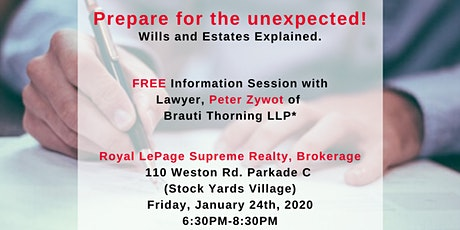 FREE Wills and Estates Public Seminar with Lawyer Peter Zywot tickets