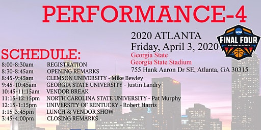 Performance 4 - Final Four Strength Clinic (LIVESTREAM AVAILABLE)