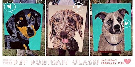 Pet Portrait Class - February  tickets