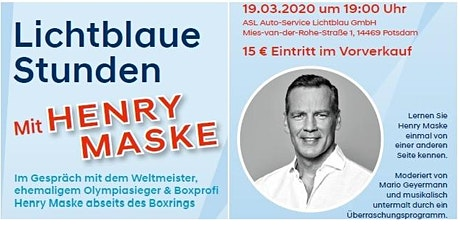 Lichtblaue Stunden mit Henry Maske Tickets
