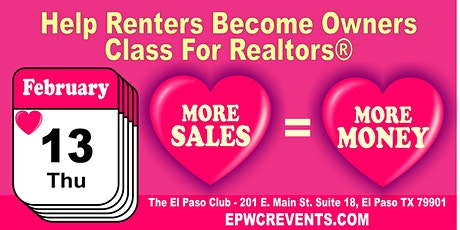 How to help Renters become Owners tickets
