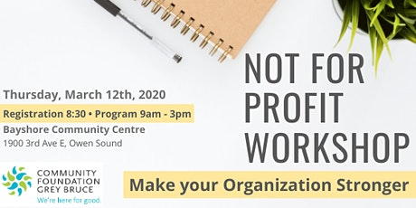 Not For Profit Workshop tickets